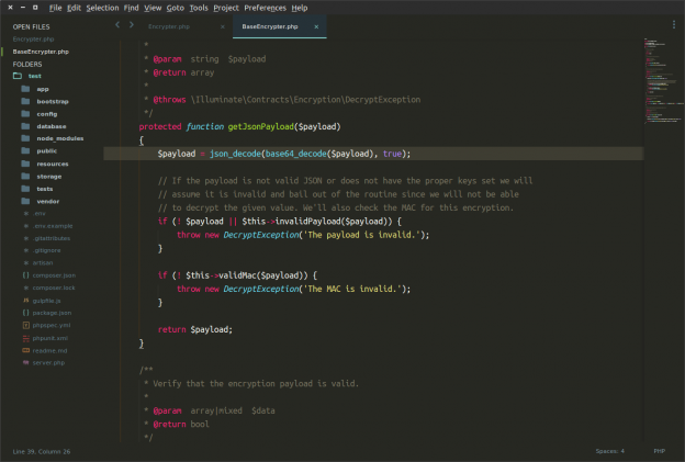 Sublime Text 3 mit Material Theme